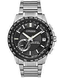Citizen Men's Eco-Drive Satellite Wave-World Time GPS Stainless Steel Bracelet Watch 44mm CC3005-85E