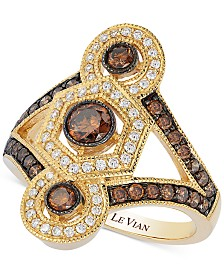 Le Vian Chocolatier® Chocolate Deco Estate™ Gold Diamond (1-1/4 ct. t.w.)  ring in 14k Gold