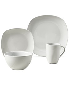 Tabletops Unlimited Logan 16-Pc. Ash White Set, Service for 4