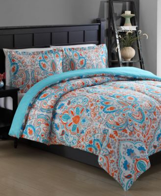 closeout! julissa reversible comforter set - bed in a bag - bed