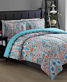 CLOSEOUT! Julissa Reversible 2-Piece Twin Comforter Set