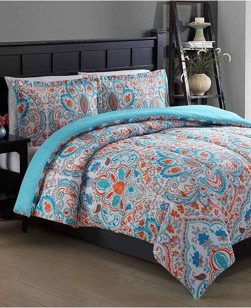 Ellison First Asia CLOSEOUT! Julissa Reversible 2-Piece Twin Comforter Set
