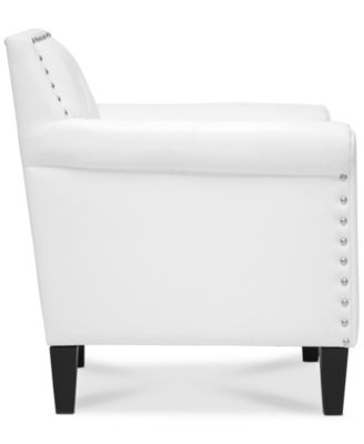 Furniture Antonia Faux Leather Accent Chair, Quick Ship   Furniture   Macyu0027s