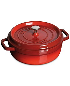 Staub Enameled Cast Iron 4 Qt. Shallow Wide Round Cocotte
