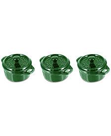 Staub 3 Piece Ceramic Mini Cocotte Set