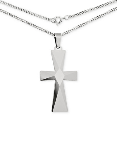 Mens cross pendant necklace in tungsten necklaces jewelry mens cross pendant necklace in tungsten aloadofball Choice Image