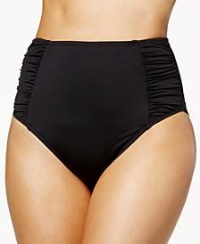 Solid High-Waist Bikini Bottoms, Created for Macy's