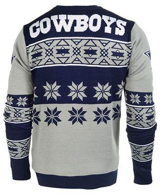 Forever Collectibles Mens Dallas Cowboys Big Logo Christmas Sweater