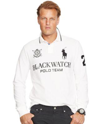 Polo Ralph Lauren Big \\u0026amp; Tall Black Watch Classic-Fit Long-Sleeved