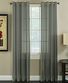 "Miller Curtains Robin 50"" x 84"" Textured Sheer Curtain Panel"