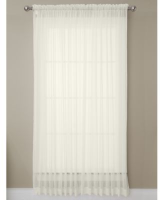 """Solunar Voile 54""""x 63"""" Insulating Sheer Curtain Panel"""