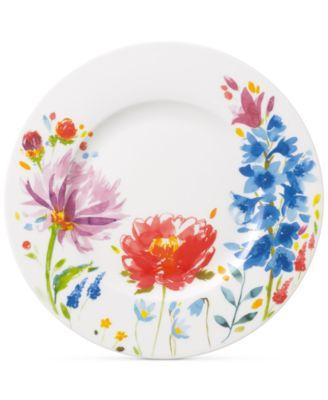 Amnut Flowers Collection Bone China Salad Plate