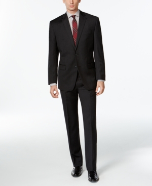 Calvin Klein Charcoal Solid Classic-Fit Suit