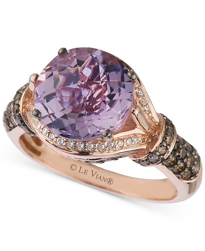 Le Vian - Amethyst (3 ct. t.w.) and Diamond (1/2 ct. t.w.) Ring in 14k Rose Gold