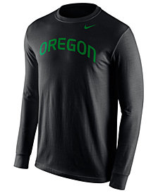 Nike Men's Long-Sleeve Oregon Ducks Wordmark T-Shirt