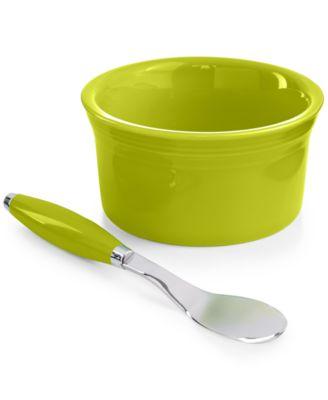 2-Piece Lemongrass Dip Bowl and Spreader Set