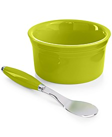 2-Piece Lemongrass 8 oz. Dip Bowl and Spreader Set