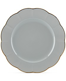 Marchesa by Lenox Dinnerware Ironstone Shades of Grey Dinner Plate