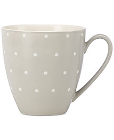 kate spade new york Larabee Dot Grey Collection Stoneware Mug
