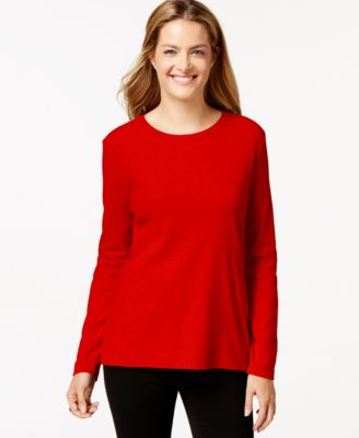 Image of Style & Co Crew-Neck Top, Only at Macy's
