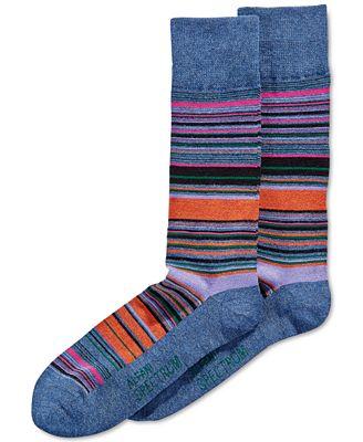 Alfani Multi-Stripe Socks, Only at Macy's