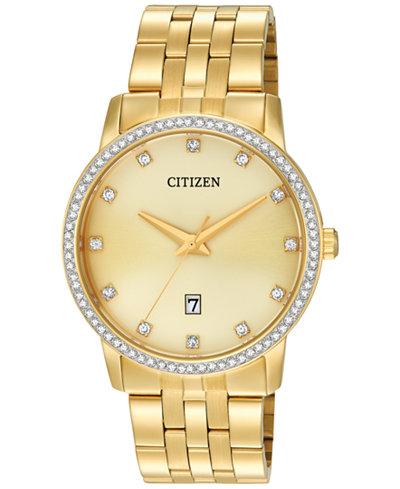 Citizen Men's Gold-Tone Stainless Steel Bracelet Watch 40mm BI5032-56P