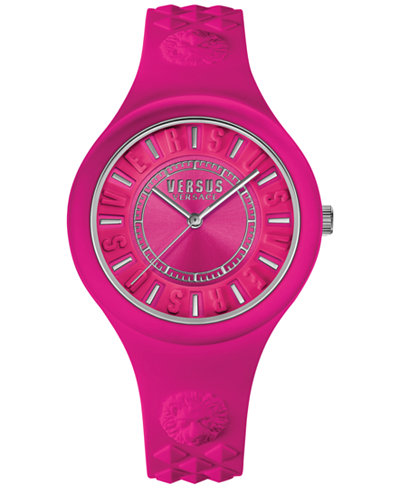 Versus by Versace Women's Fire Island Pink Silicone Strap Watch 39mm SOQ030015