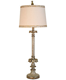 StyleCraft Champagne Finish Buffet Table Lamp