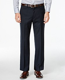 Navy Plaid Big and Tall Classic Fit Dress Pants