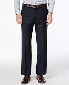 Lauren Ralph Lauren Navy Plaid Big and Tall Classic Fit Dress Pants