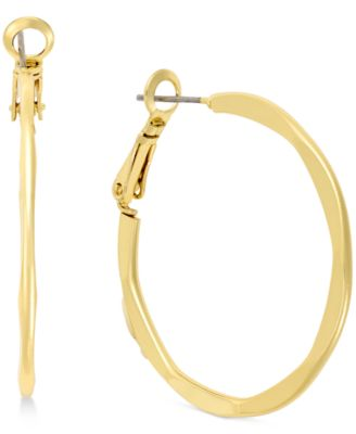Image of Charter Club Squared Hoop Earrings, Created for Macy's
