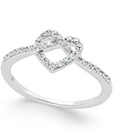 Diamond Heart Ring (1/4 ct. t.w.) in 14k White Gold