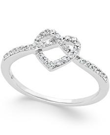 Diamond Heart Ring (1/4 ct. t.w.) in 14k White Gold