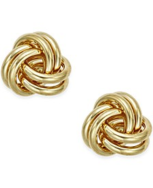 Love Knot Stud Earrings in 10k Gold