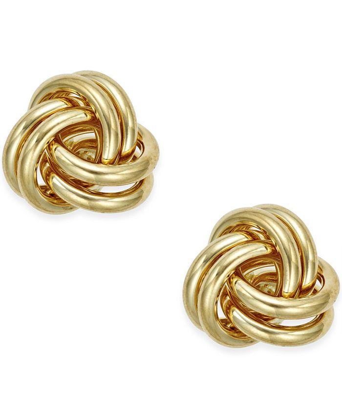 Macy's - Love Knot Stud Earrings in 10k Gold
