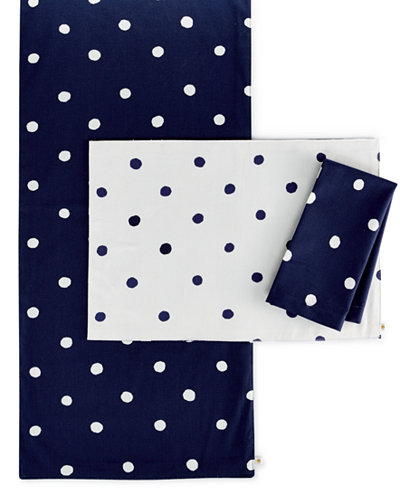 Kate Spade New York Charlotte Street Table Linens Collection - Kate spade table linens