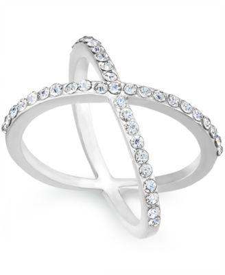 I.N.C. Criss Cross Rhinestone Rings, Created for Macy's
