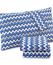Printed Microfiber Twin XL 3-Pc Sheet Set, Created for Macy's