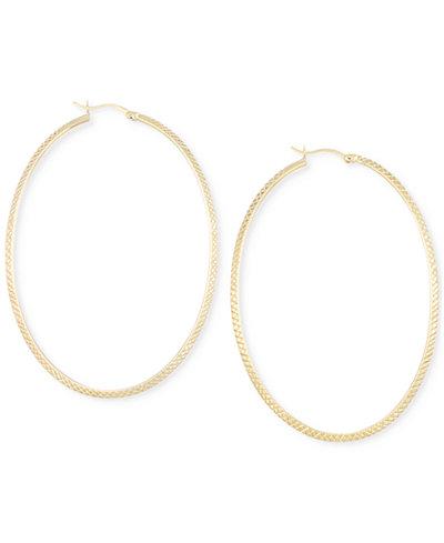 Large Oval Hoop Earrings in 14k Gold Vermeil