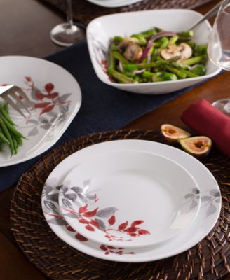 Kyoto Leaves Square 16-Pc. Set, Service for 4