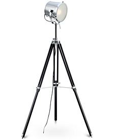 Trey Wood Tripod Floor Lamp