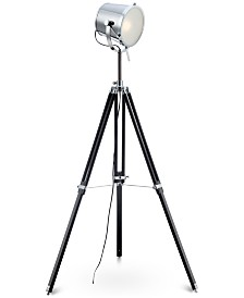 Lite Source Trey Wood Tripod Floor Lamp