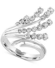 Pavé Classica by EFFY® Diamond Waterfall Ring (1/2 ct. t.w.) in 14k White Gold