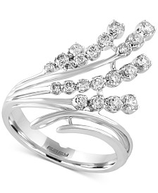 Pavé Classica by EFFY Diamond Waterfall Ring (1/2 ct. t.w.) in 14k White Gold
