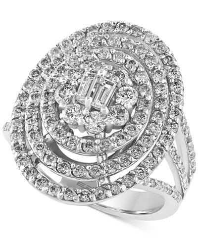 Classique by EFFY Diamond Oval Bouquet Ring (1-3/4 ct. t.w.) in 14k White Gold