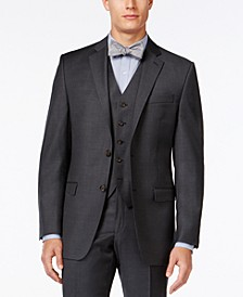 Solid Charcoal Big and Tall Classic-Fit Jacket