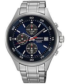 Seiko Men's Chronograph Stainless Steel Bracelet Watch 43mm SKS475