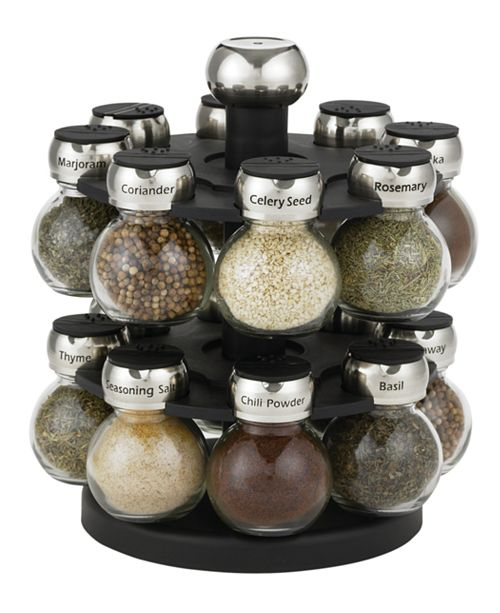 Martha Stewart Collection 17-Piece Orbital Spice Rack Set, Created for Macy's