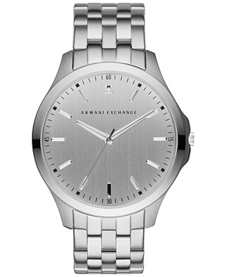 A|X Armani Exchange Men's Diamond Accent Stainless