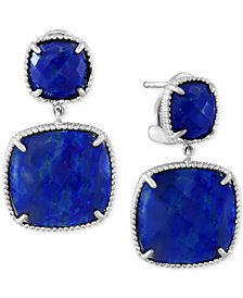 EFFY Lapis Lazuli Drop Earrings (19 ct. t.w.) in Sterling Silver